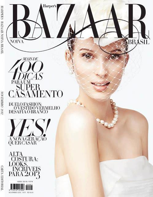 Revista Bazaar Noivas capa- dezembro 2012